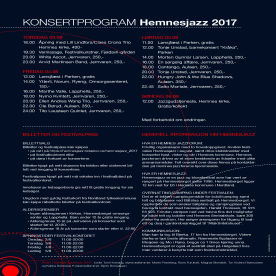Bakside program Hemnesjazz 2017